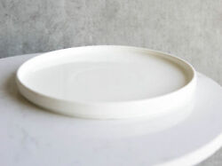 Pack Of 3 Kitchen Dining Modern White Large Coupe Dinner Lunch 9.5quot;D Plates $30.99