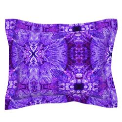 Lights Chandelier Purple Crystal Pillow Sham by Roostery $54.00