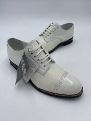Stacy Adams Mens Of Distinction Shoes Oxfords White Lizard Print 00049 Size 7.5 $89.96
