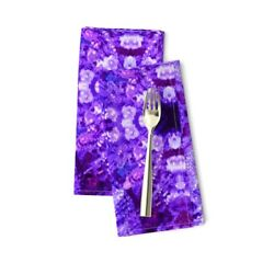 Lights Chandelier Purple Crystal Cotton Dinner Napkins by Roostery Set of 2 $29.00