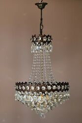 Vintage Crystal Chandelier Antique French Style Lighting lamp Ceiling Light GBP 875.00