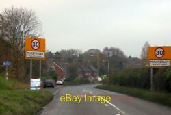 Photo 6x4 Don#x27;t speed in Minsterley Large signs greet the motorist at the c2014 GBP 2.25