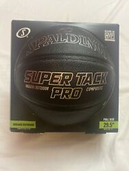 Spalding NBA 29.5 Super Tack Pro Indoor Outdoor Composite Leather Basketball $19.99