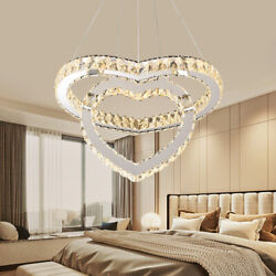 Modern Ceiling Lamp LED Chandeliers Romantic Heart shaped Crystal Pendant Lamp $66.55