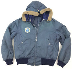 vtg 80s 90s SIKORSKY Field Support Rep Work Jacket LARGE Helicopter Sun Faded $69.99