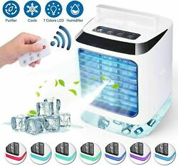 Portable Evaporative Air Conditioner Mini Cooler Fan Humidifier Air Cooling Fans $20.99