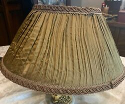 """Vintage Shade for Lamp Silk 13quot;"""" Base x 6 1 2"""" Tall $24.95"""