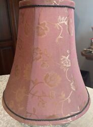 """Vintage Shade for Lamp Pink Fabric 10quot;"""" Base x 10"""" Tall $29.95"""
