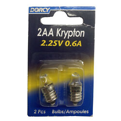 Dorcy 2AA 2.25 Volt 0.6A Krypton Flashlight Replacement Bulb 2 Pack 41 1664 $7.16