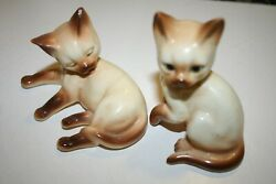 Vintage Siamese Cat cats figurines Darling small chip in ear. $9.99