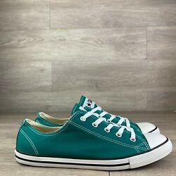 Converse All Star Women#x27;s Green Sneakers 532355C Size 9 $49.95
