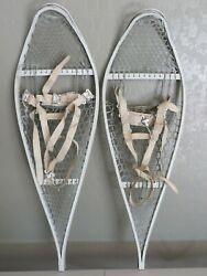 Vtg US MILITARY Aluminum SNOWSHOES Kings Point MFG Co. W Binding Straps Man Cave $60.00