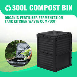 Garden Compost Bin 80 Gallon Large Outdoor Compost Container with Easy Assembly $79.99