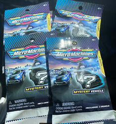 2021 Series 3 Brand New Sealed Lot Of 4 Micro Machines Mini Vehicle Blind Bags $18.99
