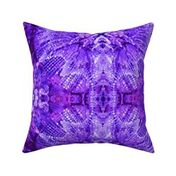 Lights Chandelier Purple Throw Pillow Cover w Optional Insert by Roostery $44.00