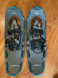 LL BEAN Winter Walker 26 Adult Aluminum Snow Shoes Blue Grey Up to 200 Lbs $99.00