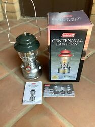 Coleman Centennial Lantern New In Box Never Fired and Complete $550.00
