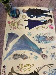 Disney Frozen Wall Decals Stickers 2 Large 39quot; sheets Elsa Anna Ice Palace $22.00