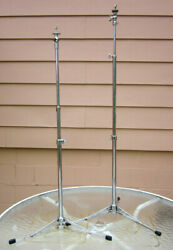 Pair of Vintage Ludwig USA Cymbal Stands w Tilters $48.00