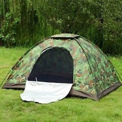3 4 Person Outdoor Camping Waterproof 4 Season Folding Tent Camouflage Hiking US $19.98