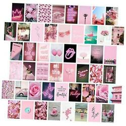 Pink Wall Collage Kit Aesthetic Pictures Bedroom Decor for Teen Girls Wall $20.06