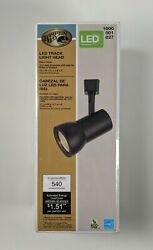Hampton Bay Ceiling Track Lighting Head LED Dimmable Cylinder Black $19.00