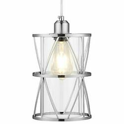 SHENGQINGTOP Modern Cylindrical Pendant Light with Clear Glass Brushed Nickel... $44.24