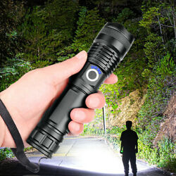 Super Bright 90000LM LED Tactical Flashlight With Rechargeable Battery $14.95