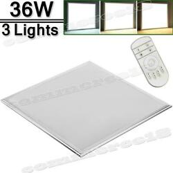 3Packs 2x2 FT 36W LED Troffer Panel Light Recessed Dropped Ceiling Dimmable $97.10