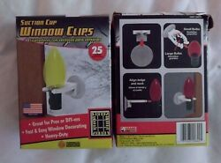 Commercial Christmas Hardware SUCTION CUP WINDOW Light CLIPS 25 Per Box Set Of 2