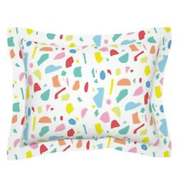 Rainbow Terrazzo Abstract Stone Stitchpress Floor Modern Pillow Sham by Roostery $49.00