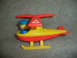 Vintage FISHER PRICE LITTLE PEOPLE Helicopter for Jetport Airport w Stewardess $12.25