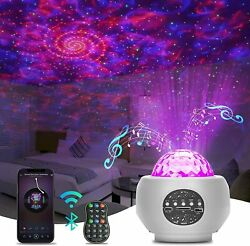 Projector Galaxy Starry Sky Night Light Ocean Star Party Speaker LED Lamp Remote $22.98