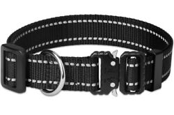 Nylon Adjustable Tactical heavy duty large Dog Collar with Metal Buckle US $12.00