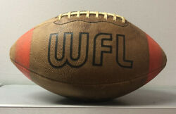RARE 1974 WFL World Football League Game Used Football Spalding OFFICIAL $599.95
