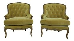 53379EC: Pair CENTURY French Louis XV Style Parlor Chairs $1695.00
