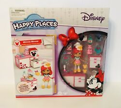 Disney Happy Places MINNIE MOUSE Waffle Kitchen Theme Pack Playset Goldie Bow $49.99