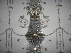 2 Schonbek 2 Tiered Crystal Wall Mounted Sconces Model 1904 Magnificent Rare $2000.00
