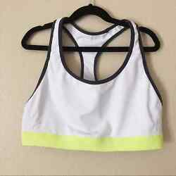 C9 by Champion sport bra size XL white racer back compressed no pad pullover $5.60