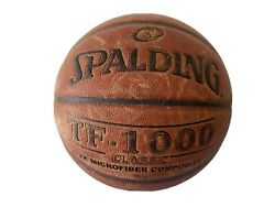 Original Spalding TF 1000 Game Ball Leather Basketball Men#x27;s 29.5 Used $70.00