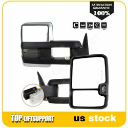 Power Clearance Signals Towing Side Mirrors For 1988 98 C K 1500 2500 3500 Pair $150.57