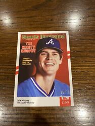 2021 Topps x Sports Illustrated Dale Murphy Card #50 White Red Stripes 70 $16.99
