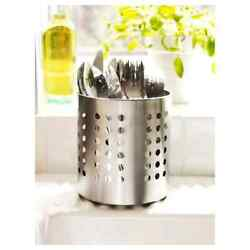 IKEA ORDNING Stainless Steel Kitchen Utensil Caddy Cooking Tools Holder Small 5quot; $7.25