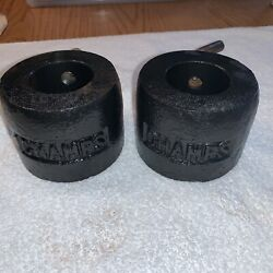 """Vintage CHAMPS CHAMPION TWO OLYMPIC BARBELL COLLAR 1 SET Weight plates 2"""" $25.99"""