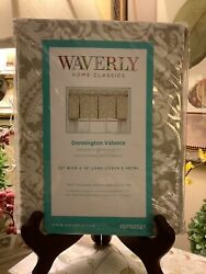 """Waverly DONNINGTON Valance 52""""W x 18""""L Neutrals NEW in Package FREE SHIPPING $24.99"""