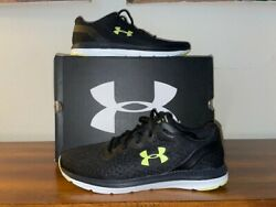 NEW UNDER ARMOUR CHARGED IMPULSE Running Shoes Mens Size 11 3021950 004 Black UA $47.99