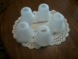 5 Frosted Glass Bell Replacement Shades for Light Fixture or Ceiling fan $15.00
