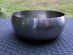 """VINTAGE MID CENTURY MODERN MCM STAINLESS 9"""".5 x 4"""" COLD SALAD or POPCORN BOWL $18.00"""