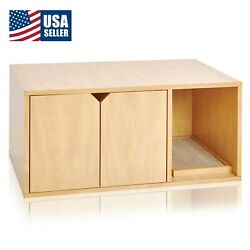 Cat Litter Box Enclosed Eco Stackable Modern House Furniture Scratch Pad Natural $97.22