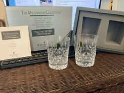 Waterford Crystal Millennium Toast Health Double Old Fashion Tumblers $89.99